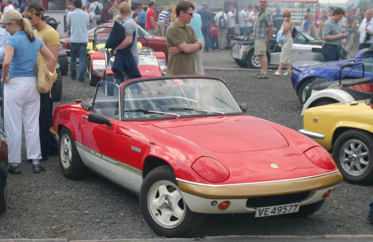 Lotus Elan på Norsk Sportsvogn Klubbs Vårmønstring
