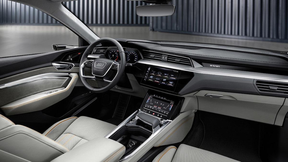Audi e-tron. Interiør. Foto: Audi